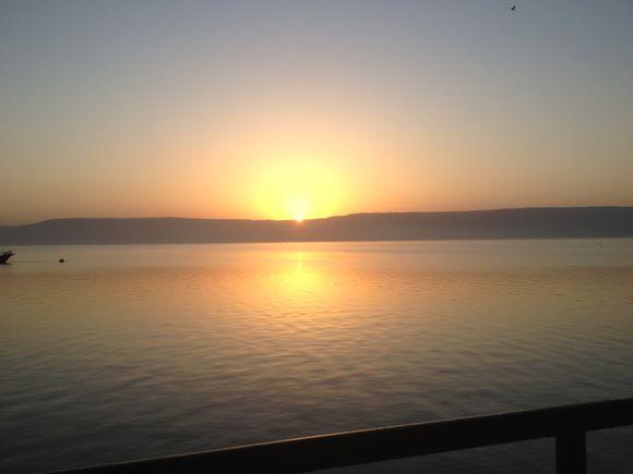 Sunrise on Galilee